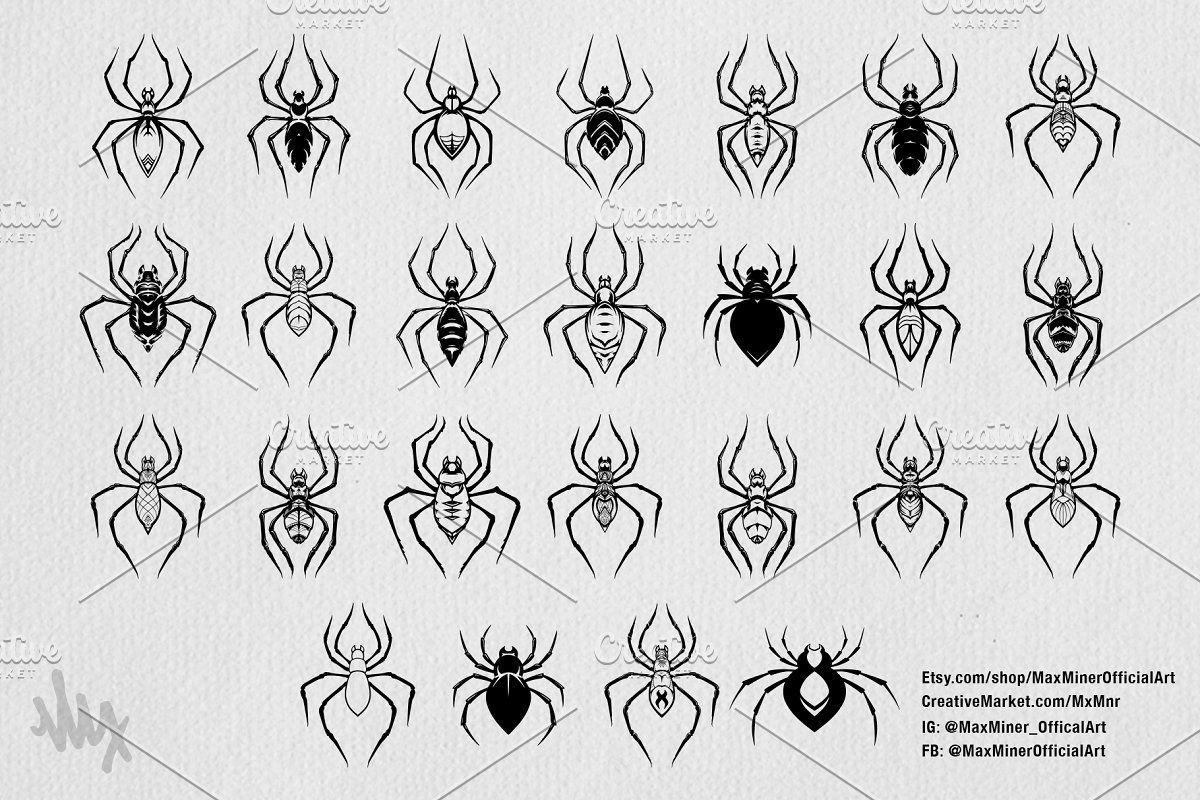 Halloween 2020 Art Pack Spooky Spiders Halloween Art Pack in 2020 | Halloween art, Spider