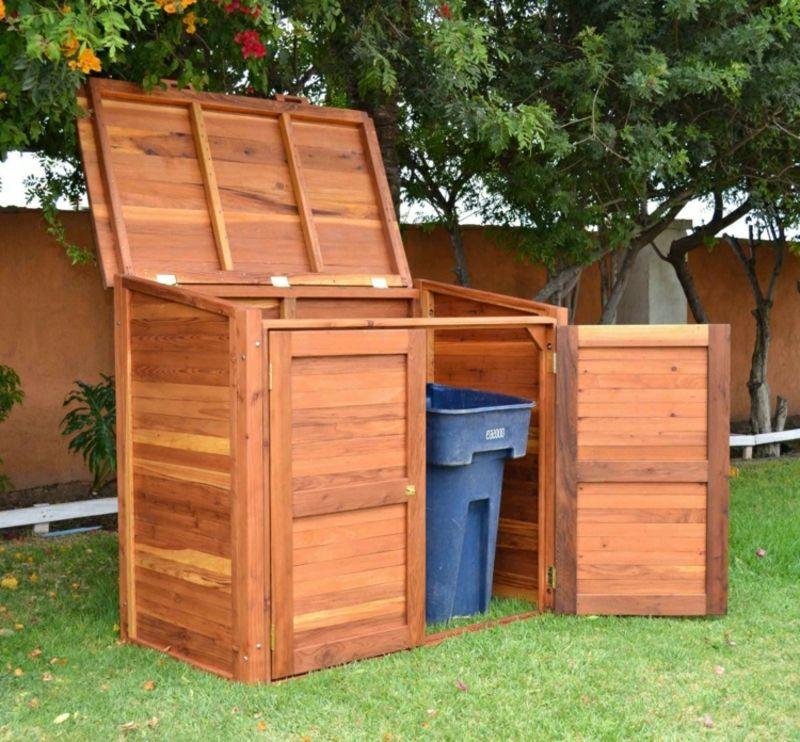 g nstige ideen f r den au enbereich m lltonnenbox selber bauen bastelideen garten. Black Bedroom Furniture Sets. Home Design Ideas