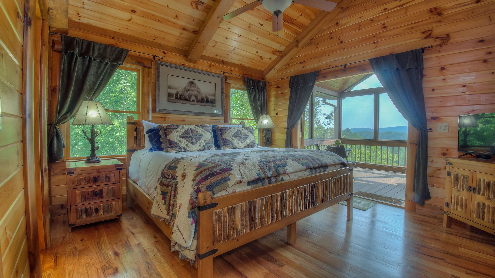 ga the bedroom of in two georgia blue ridge cabins cabin just rentals us pro