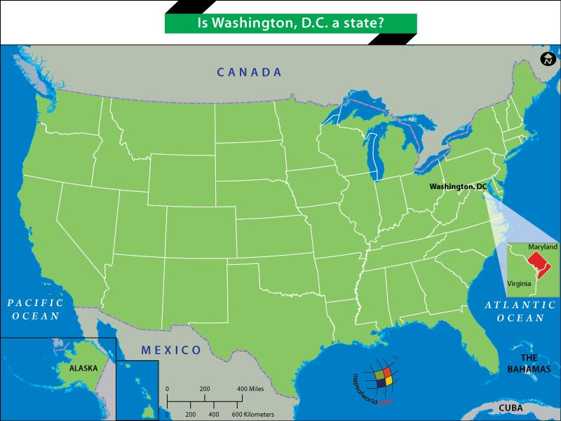Is Washington D C a state Thematic maps