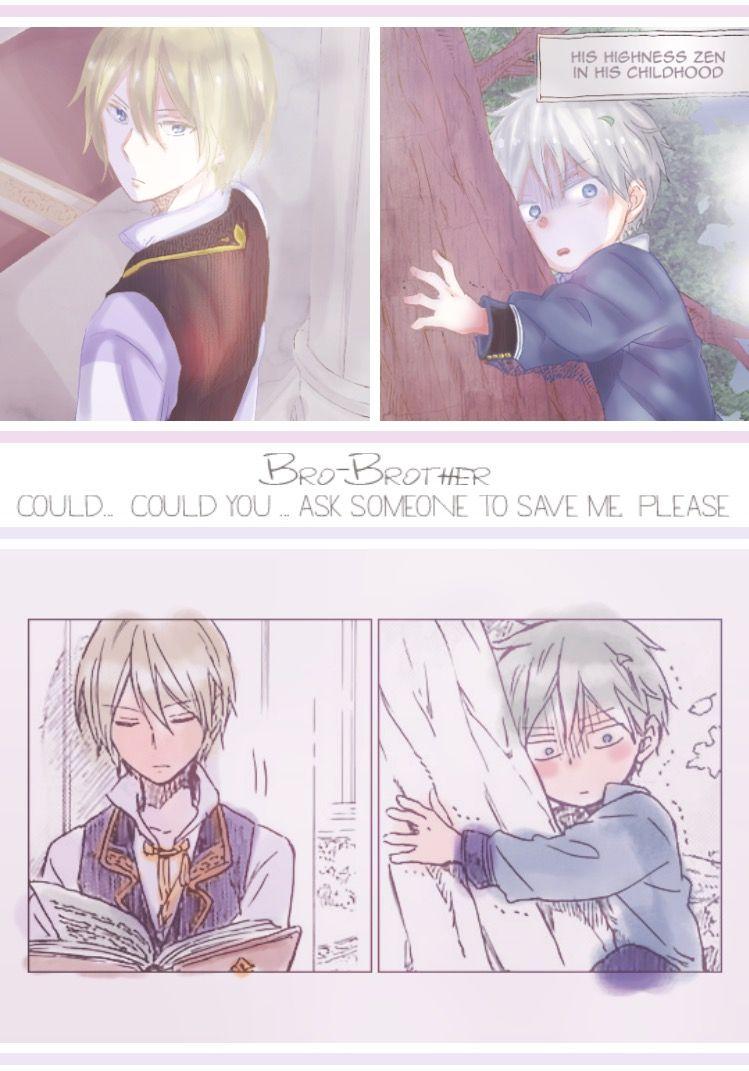 a4ab32be62ee Akagami no shirayukihime Prince zen and izana manga   Akagami no ...
