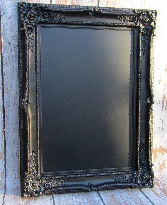 large black framed chalkboard french provincial by revivedvintage