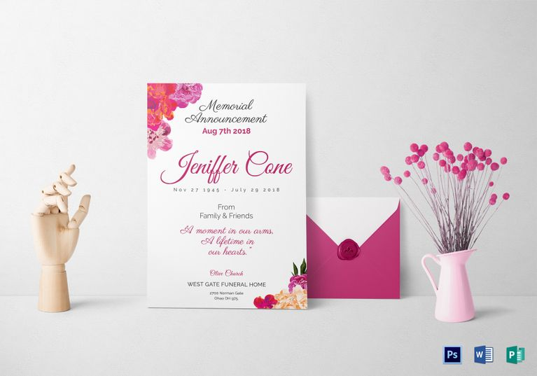 Funeral Invitation  Invitation Card Templates