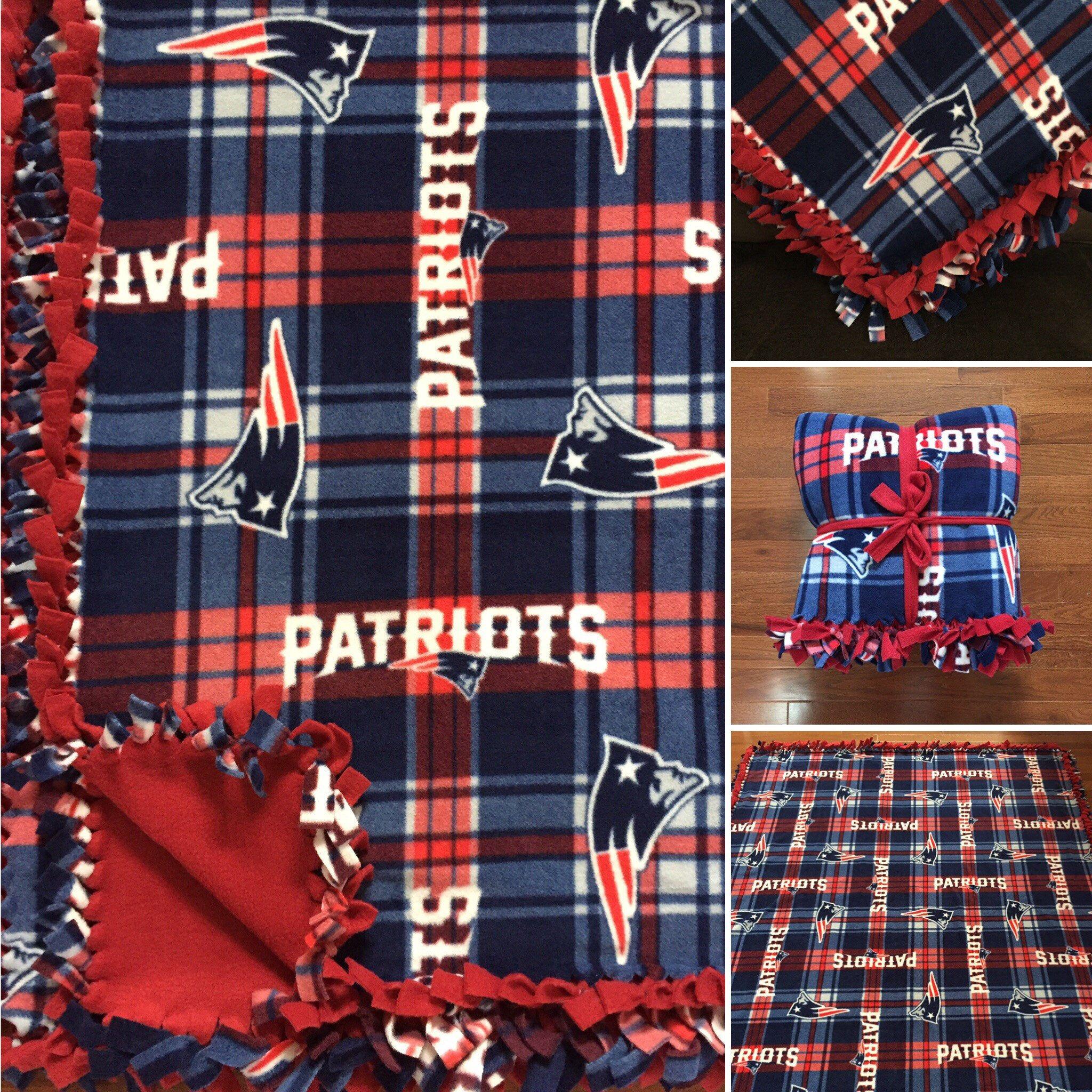 11ec982c LARGE PATRIOTS NFL Handmade Fleece Tie Blanket | 55x65 | New England ...