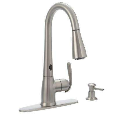 Haysfield Single Handle Pull Down Sprayer Kitchen Faucet With