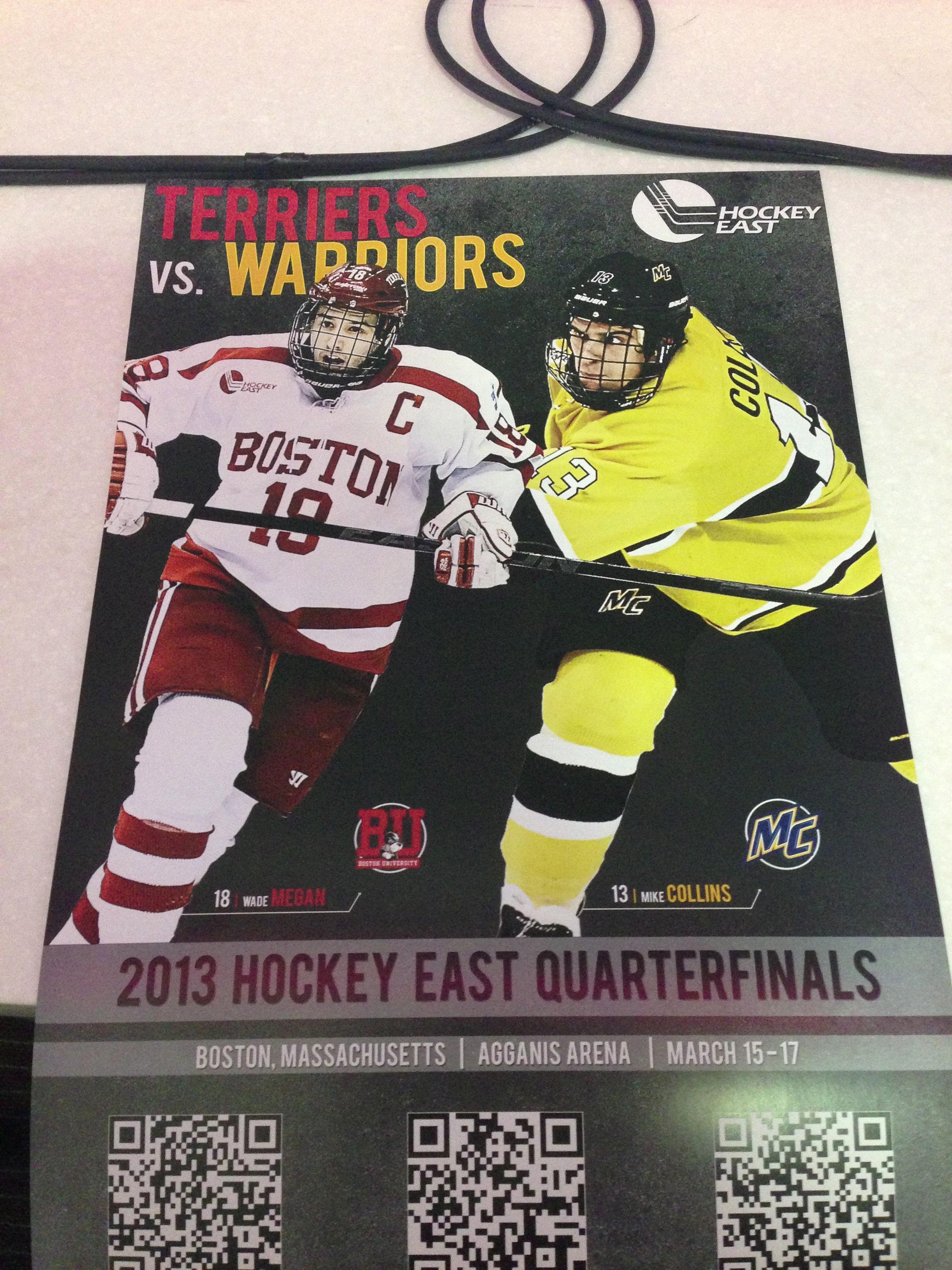 BU vs  Merrimack, Hockey East Quarterfinals | Press Passes