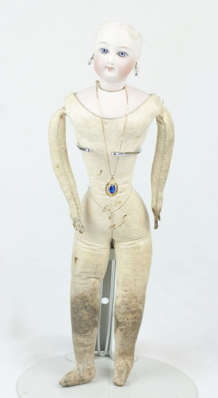 """1900s Francois Gaultier French Fashion Doll 12"""" from funcity on Ruby Lane"""