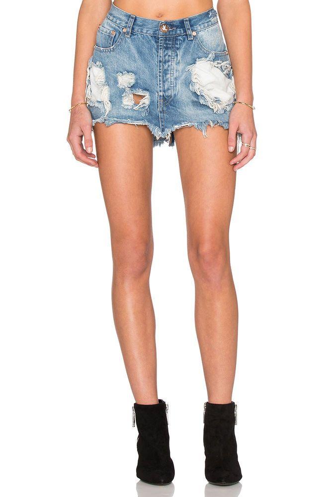 118 Nwt One Teaspoon Junkyard Skirt In Austyn Destroyed Wash Size 26 Oneteaspoon Skirts Denim
