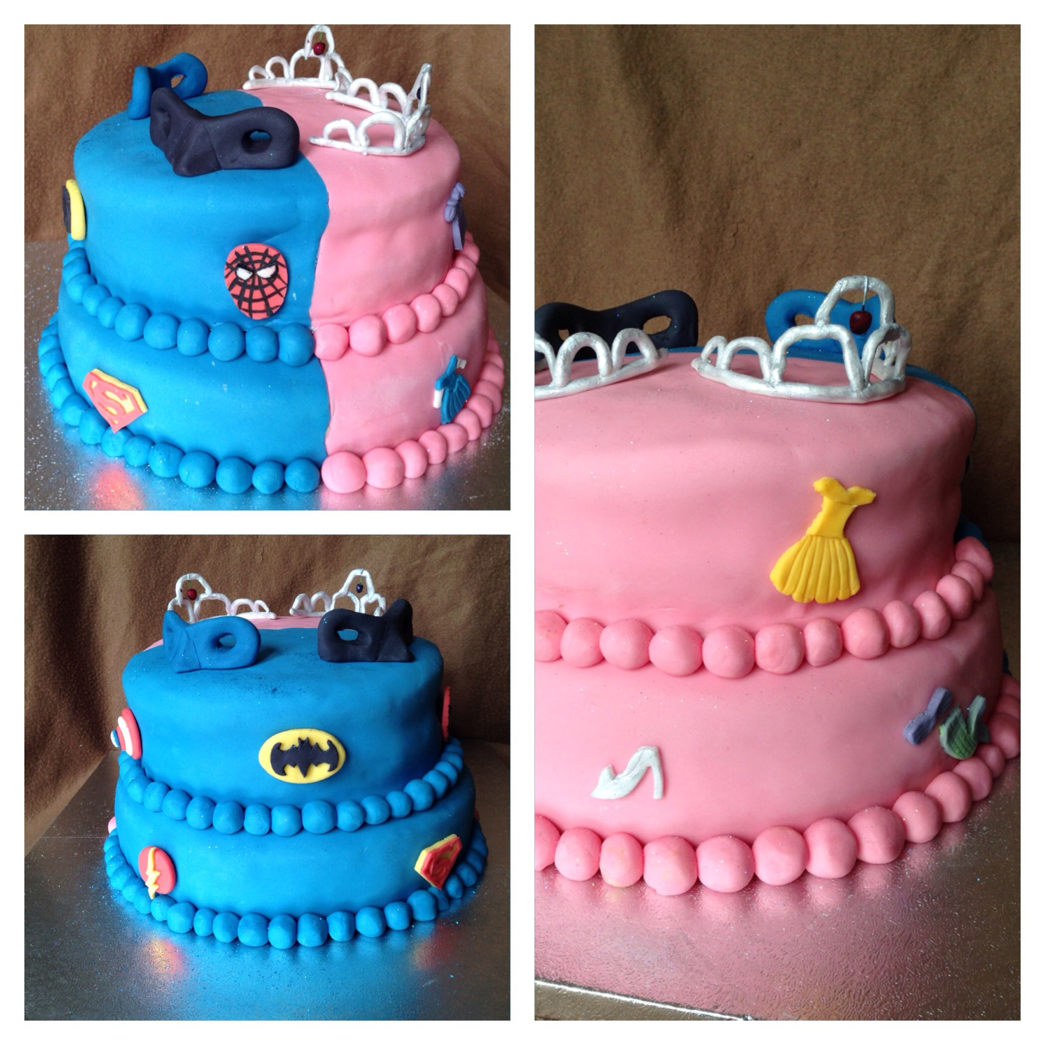 Superhero Princess birthday cake Sweet things3 Pinterest