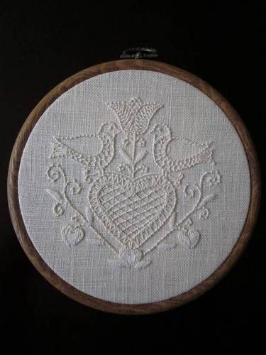 Beautiful white-on-white embroidery.