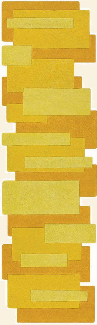 Modernrugs Com Yellow Color Block Odd Shape Modern Rug