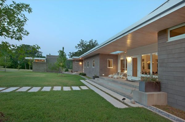Modern Ranch Homes Texas Home Outside Contemporary Ranch