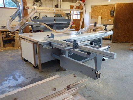 Felder saw outfeed table + scrap bin | garage in 2019 | Sliding