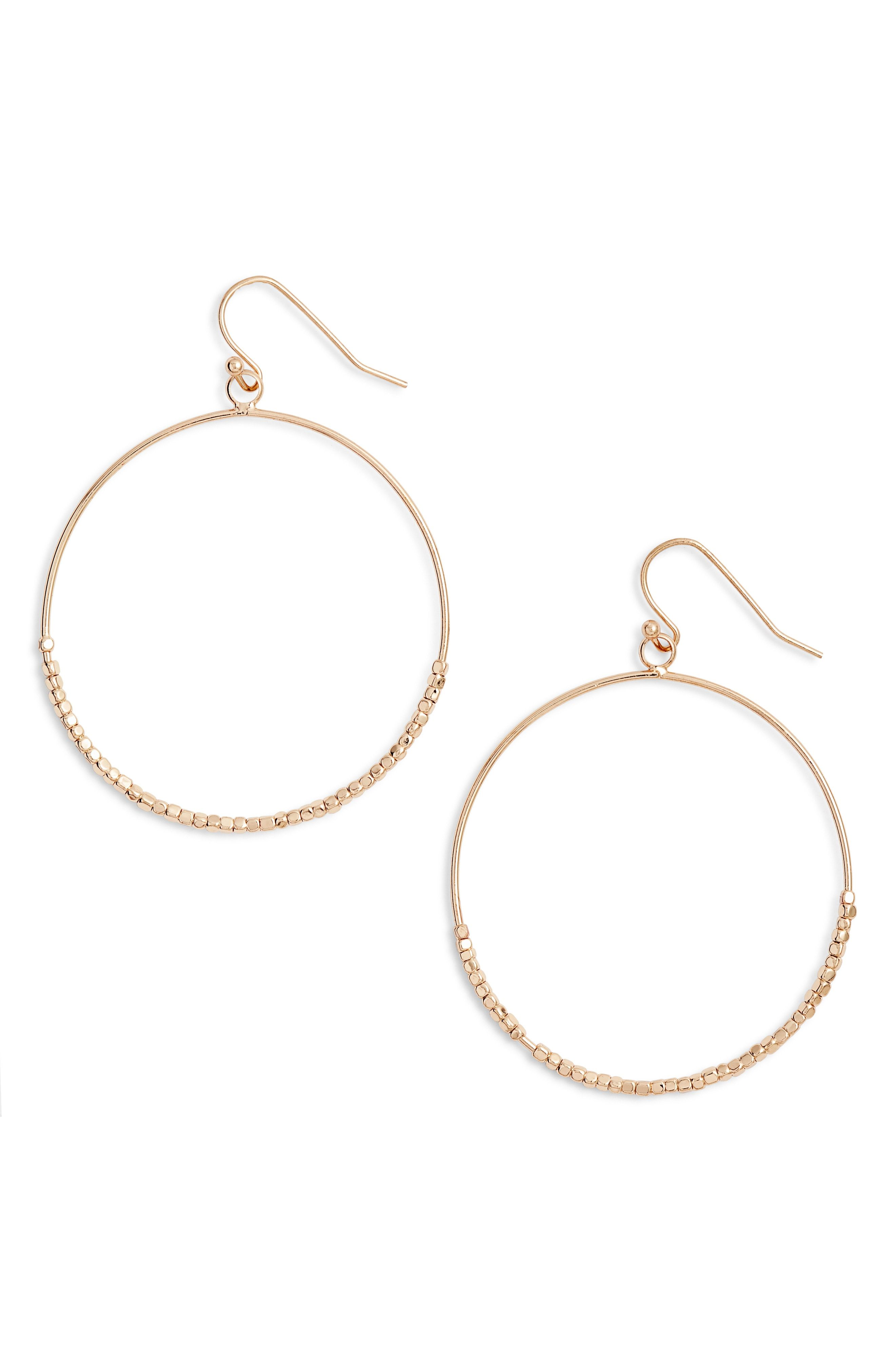575516f86 Stella + Ruby Frontal Hoop Earrings available at #Nordstrom | love ...