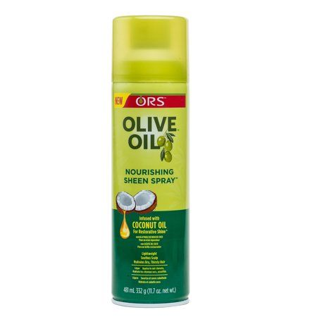 Ors Olive Oil Nourishing Sheen Spray 11 7 Oz White Curly Hair