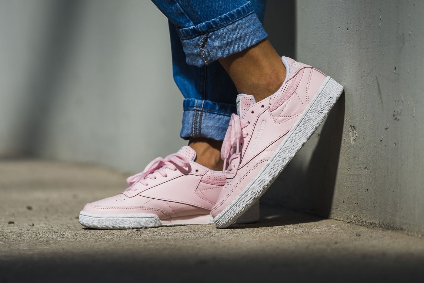 This Reebok Club C 85 FBT Is Pink-and-White Minimalism Done Right