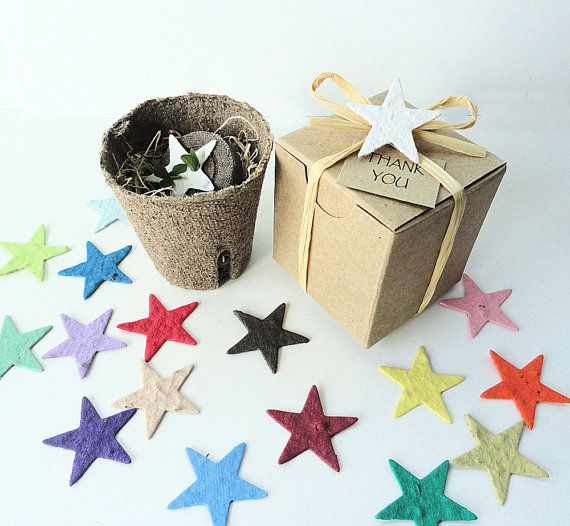 $150 for 100 Flower Seed Star Garden Gift Sets, Quantity Discount of 50% off, personalized Wedding Favors, Bridal Shower Favors by Nature Favors