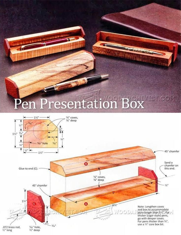 Pen Presentation Box Plans Woodworking Plans And Projects