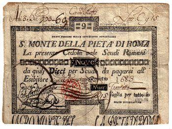 Minimum Gmbh pius vi 1775 1799 s monte della pieta di roma 9 scudi 3 dez