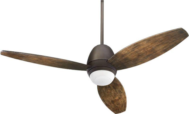 "0-014427>Bronx Patio 1-Light 52"""" Ceiling Fan Oiled Bronze"