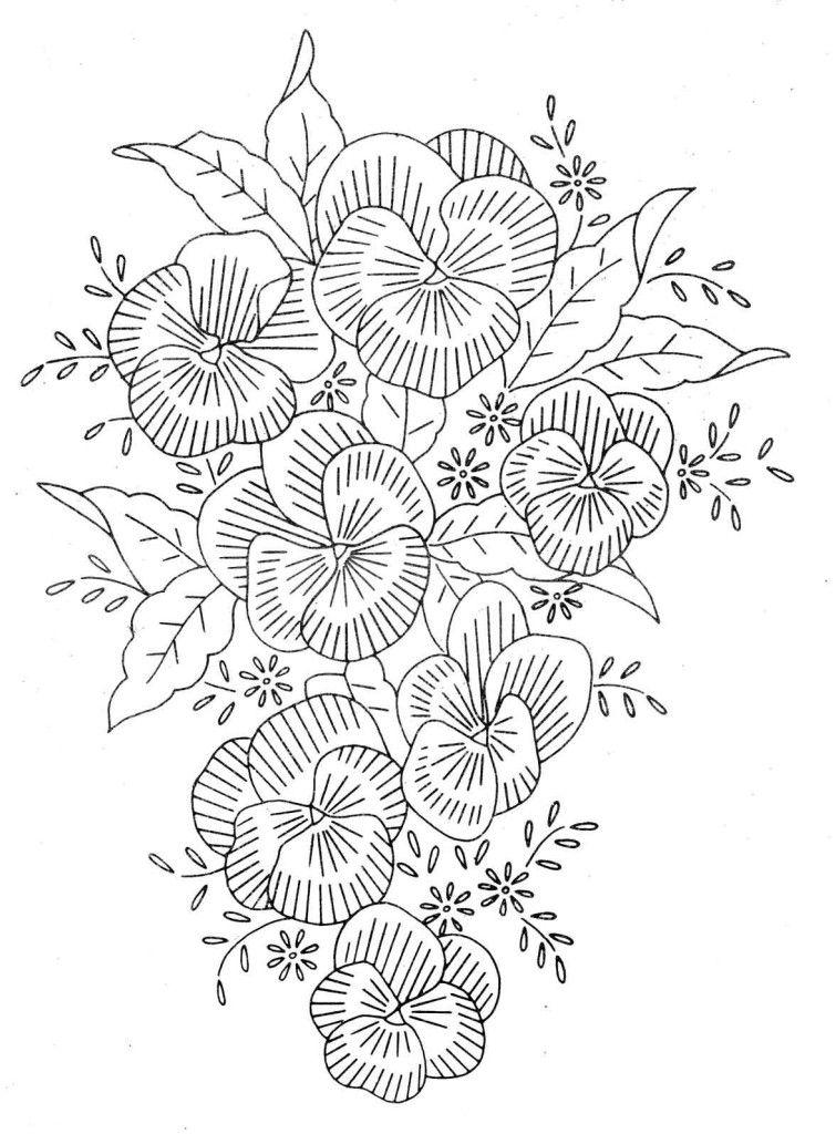 рисунки цветов для вышивки | Dibujos para todo | Pinterest ...