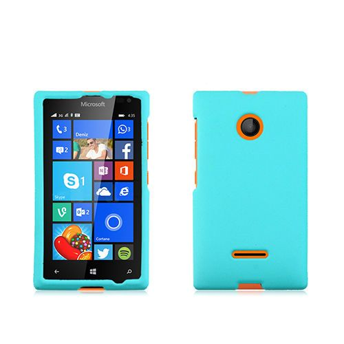 For Nokia Lumia 435 rubber finish Teal phone case cover- T-mobile