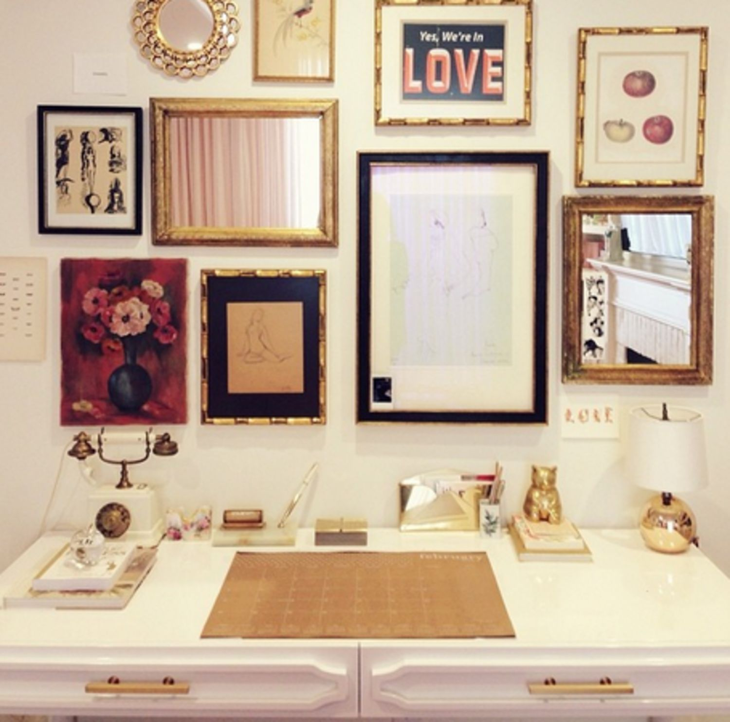 I Really Love This Idea A K Into Lauren Conrad S Home Office And 3 Ways To Copy Her Ultra Pretty Style