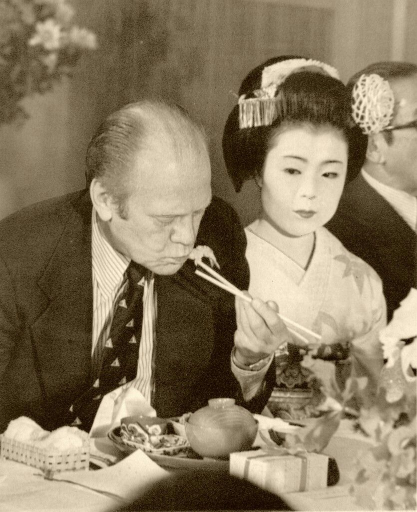 Gerald Ford and Ichiume, Liza Dalby's onēsan | The Floating World ...