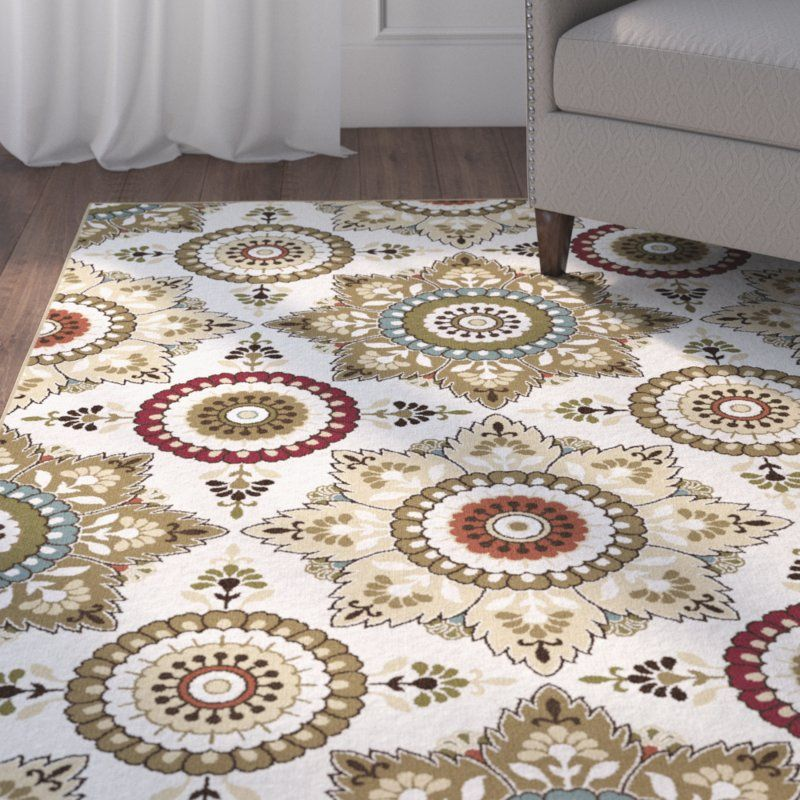 Dolan Floral Beige/Cream Area Rug Area rugs, Rugs, Rug size