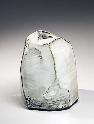 Mid-sized, narrow white hagi-glazed scooped-out mountain-shaped vessel with ridges, 2012 Glazed stoneware 10 5/8 x 9 3/8 x 9 3/8 in. Inv# 8103 $ 4,850 Image Kaneta Masanao
