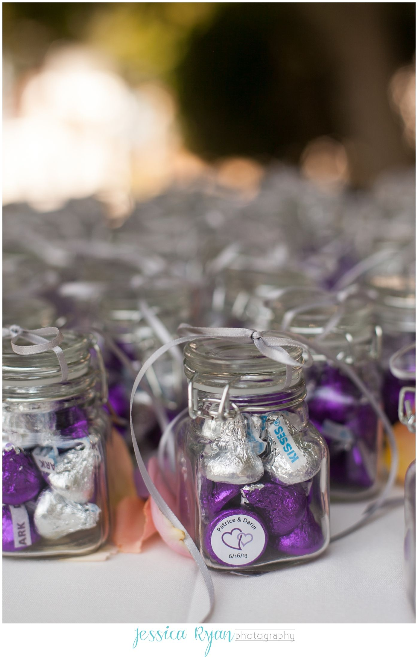 Purple Chocolate Kisses Favors Making A Statement See More Hershey Kiss Wedding