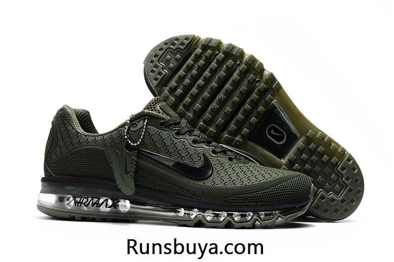 buy popular f4a3b fbaf8 New Nike Air Max 2017.8 KPU Camo Green Black Tick Men Shoes