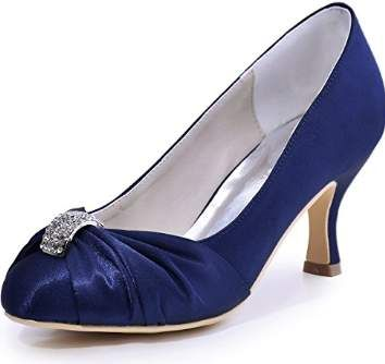 836617303ea60 Amazon.com: navy blue wedding shoes - Women: Clothing, Shoes ...