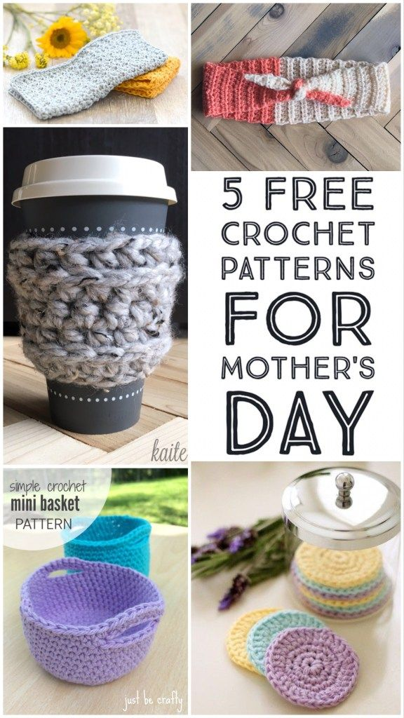 5 Free Crochet Patterns for Mother\'s Day Pinterest Photo Official ...
