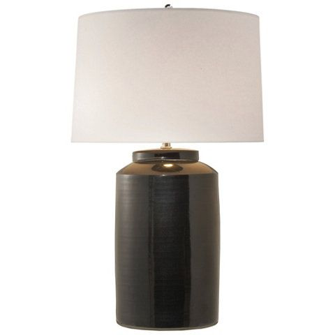 Carter Large Table Lamp In Black Porcelain Table Lamps