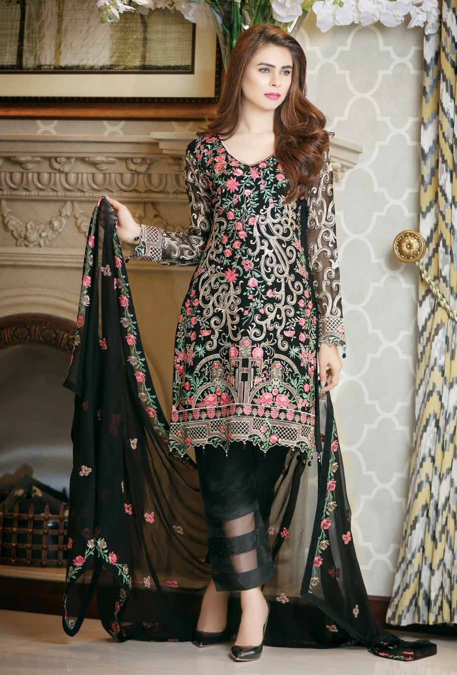 15132be30a Ramsha Chiffon Salwar Suit Vol 7 | Prettyyy in 2019 | Dresses ...