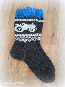 Frøken Lykkelig: Marius-Traktor-Sokker