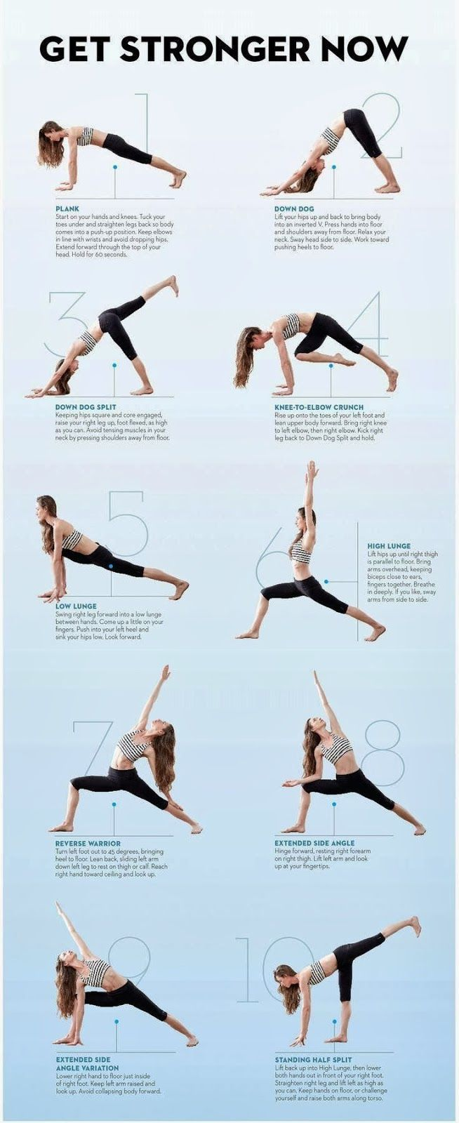 Get Stronger With Yoga Exercise Health Infographics Self Help Tips Ideas