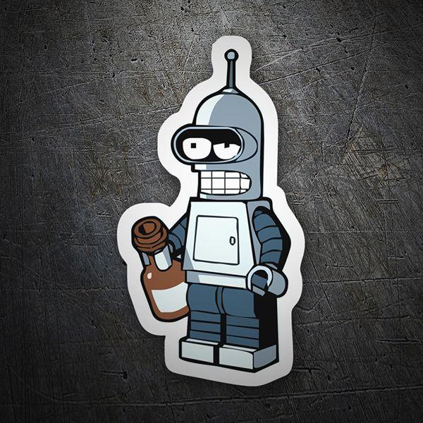 Bender borracho pegatinas