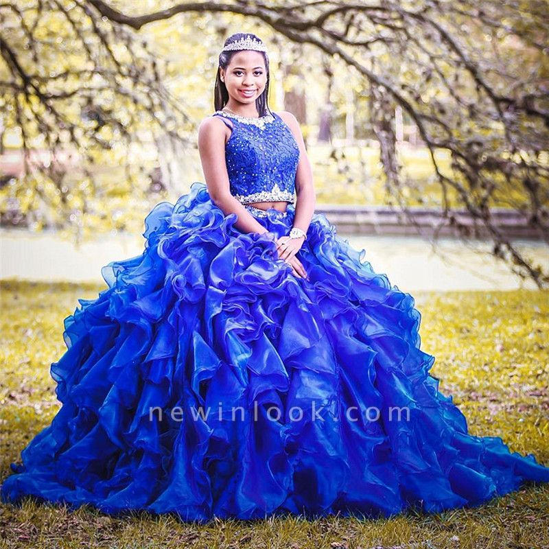 Ball Gown Long Sleeve Beaded Crystal Applique Watteau: Two-piece Sleeveless Appliques Crystal Beading Taffeta