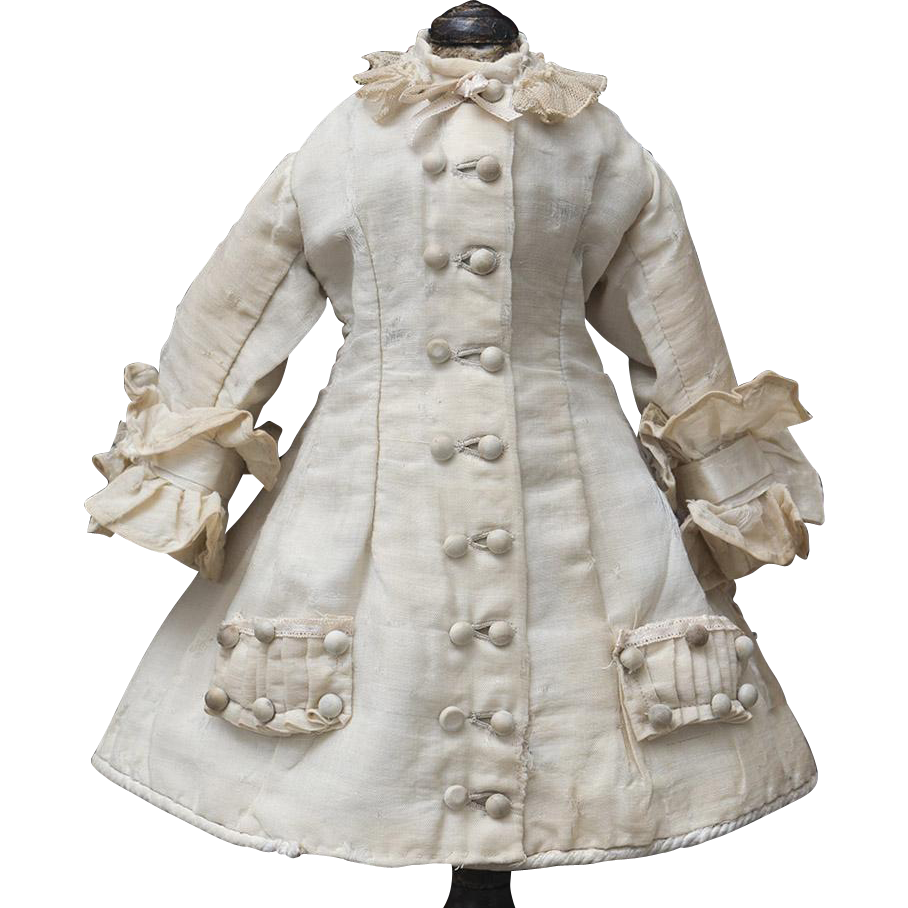Antique French Original Ecru Silk Dress for Jumeau bru Steiner Eden ...
