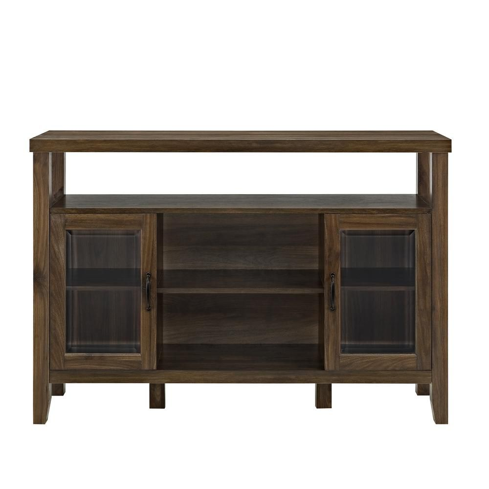 Walker Edison Furniture Company 52 In Dark Walnut Wood Console