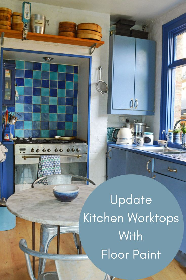 How To Update A Kitchen With Painted Worktops | Decoración ...