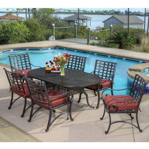 Veranda Classics Savannah 7 Piece Dining Set 7 Piece Dining Set Outdoor Furniture Sets Outdoor Living