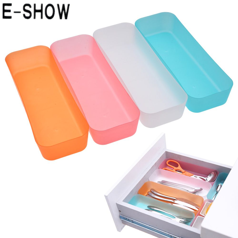 E Show 3 Sizes Adjule Drawer Organizer Makeup Storage Box Jewelry Divider For Diy Home Kitchen