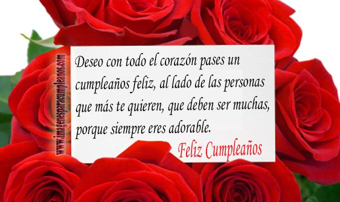 Flores con Bonitos Mensajes de Cumpleaños Happy birthday cards and Happy birthday