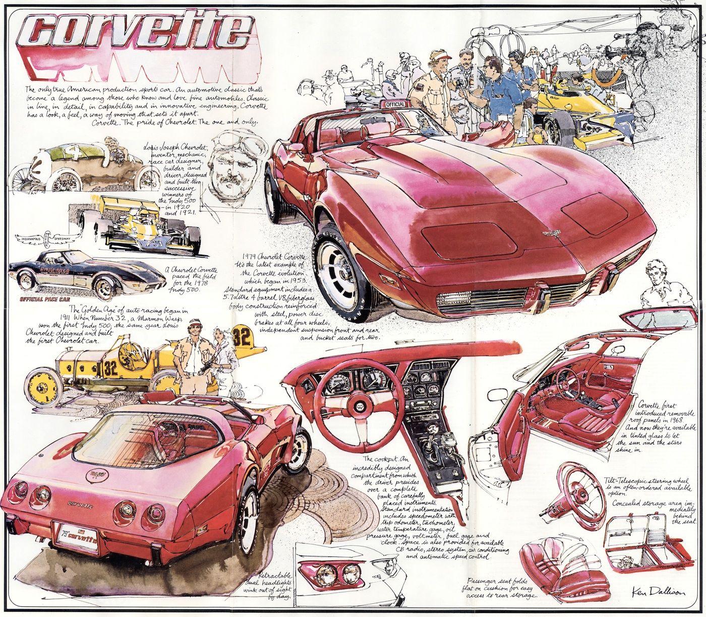 Gm 1979 Corvette Sales Brochure Corvette Art Chevrolet Corvette Corvette