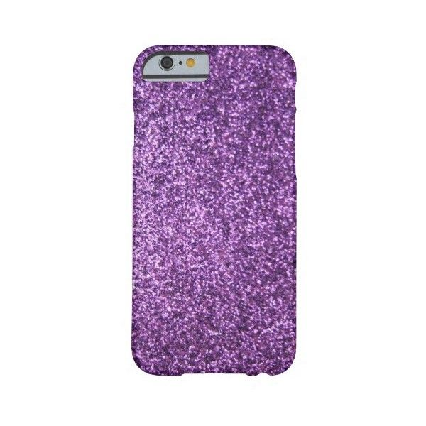 Faux Purple Glitter Barely There Iphone 6 Case ($43) ❤ liked on Polyvore featuring accessories and tech accessories