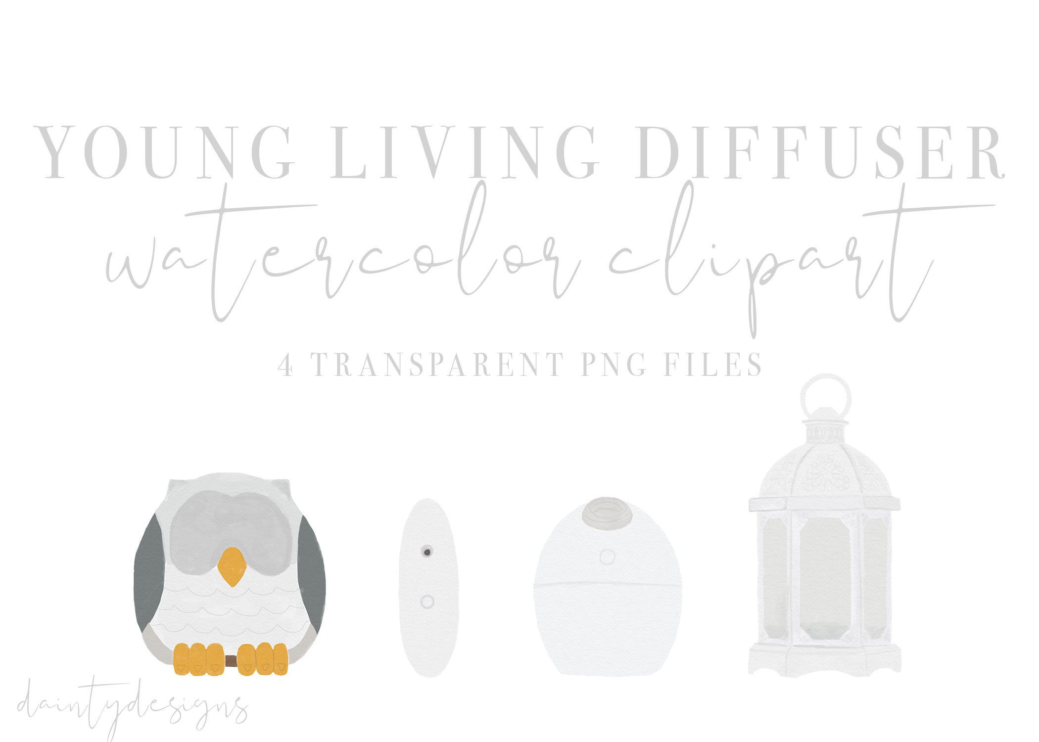 Watercolor Diffuser Clipart Young Living Diffusers Etsy In 2021 Young Living Diffuser Young Living Young Living Starter Kit