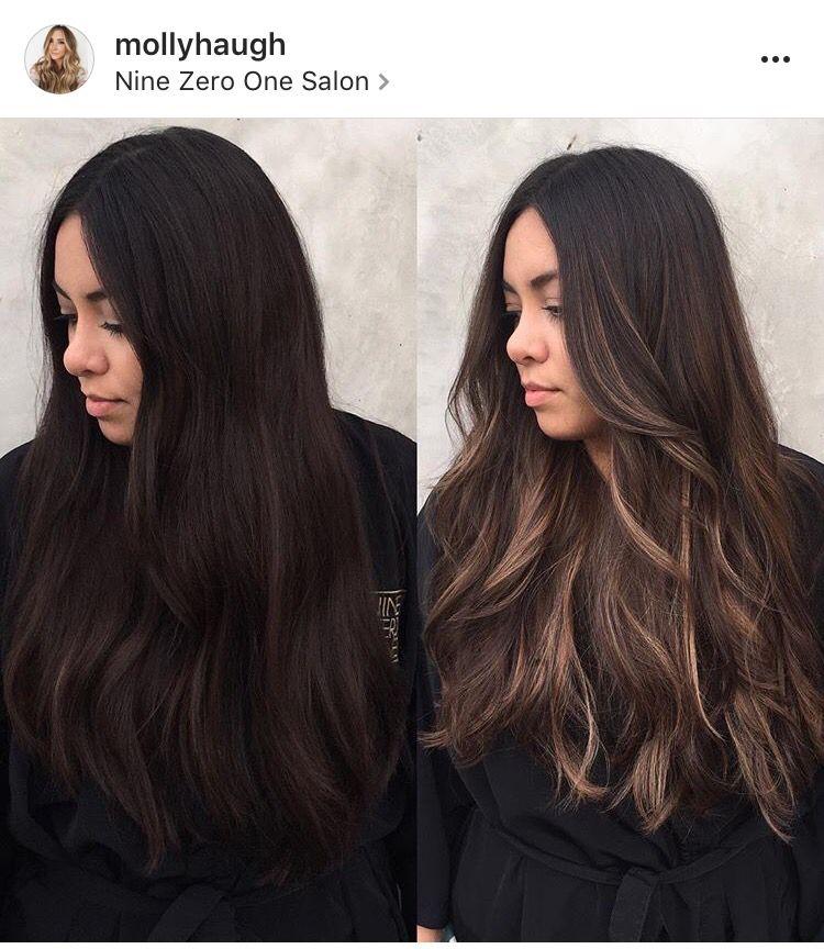 Love Her Hair Both Before And After Black Hair Balayage Latina Hair Brown Hair Balayage